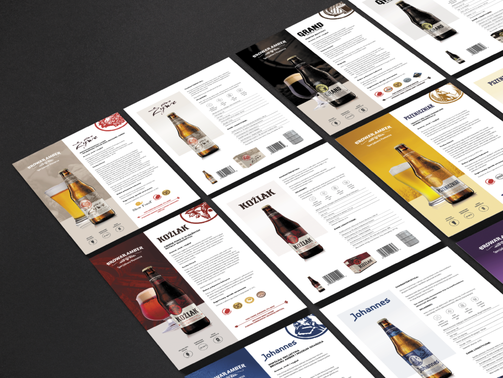 commercial leaflets of Amber beers